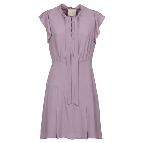 liliac silk dress