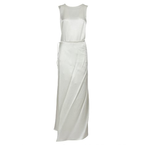 white viscose mia dress