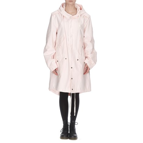 pink hooded parka coat