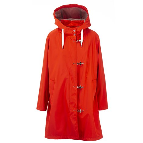 red tech fabric jacket