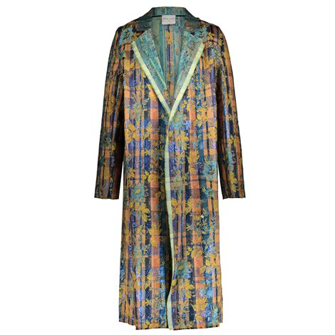 printed jaquar coat