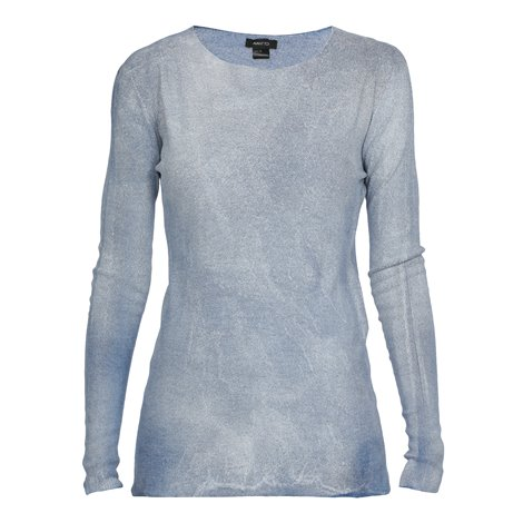 light blue stretch cashmere and silk sweater