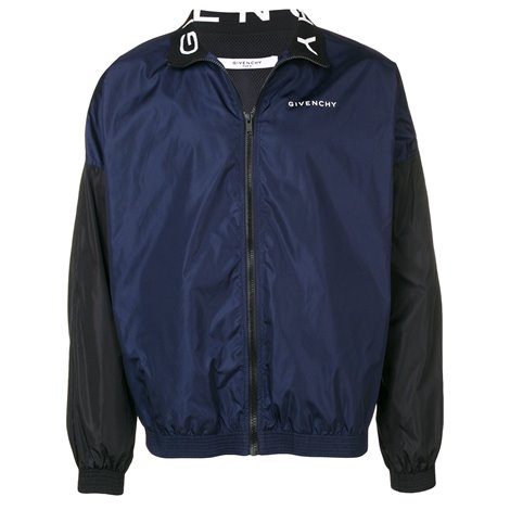 nylon logoed jacket