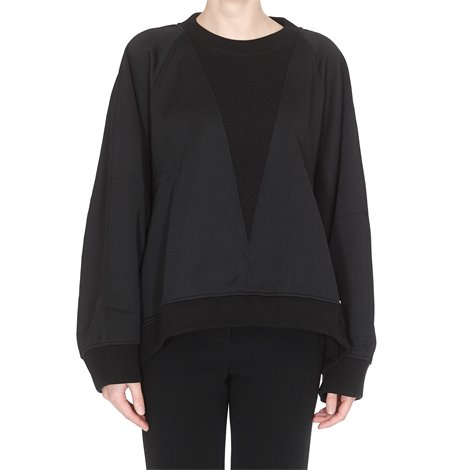 black logoed sweatshirt