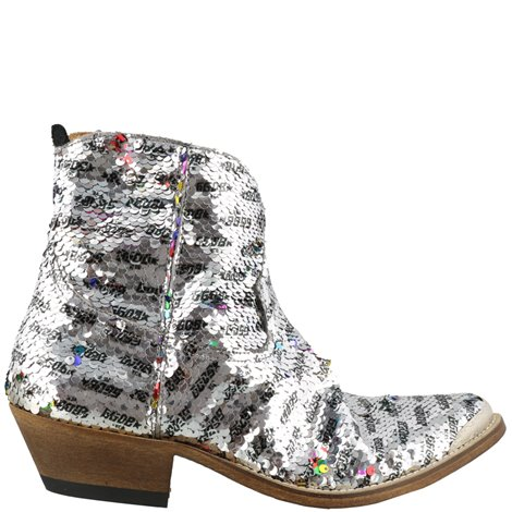 young boots with double face sequin embellishment