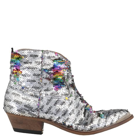 sequined young boots