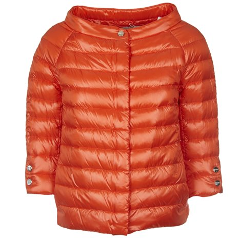 orange down filled coats