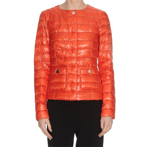 orange light down jacket