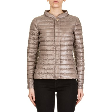 dove gray light down jacket