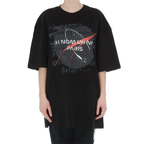 t-shirt nera stampa nasa