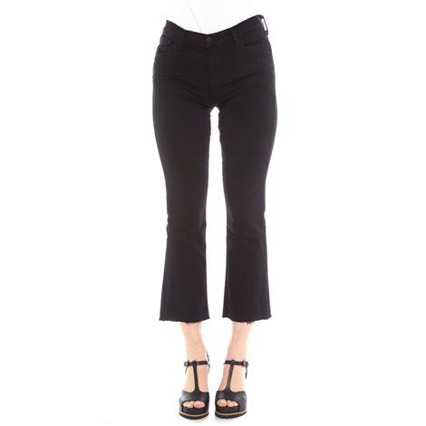 black selena mid-rise cropped jeans