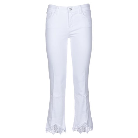 white cropped selena jeans