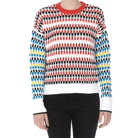 multicolor cut-out jumper