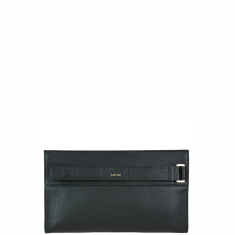 black leather réglisse clutch