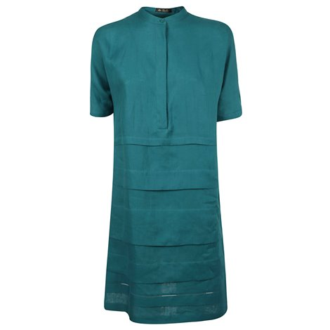 turquoise linen dress