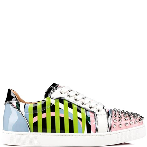 multicolor patent leather sneakers