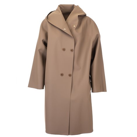 brown light overcoat