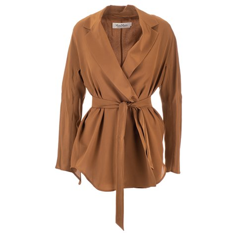 silk brown blazer