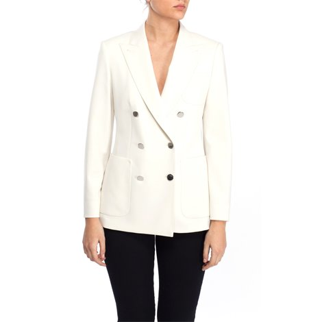 white linen and cotton jacket