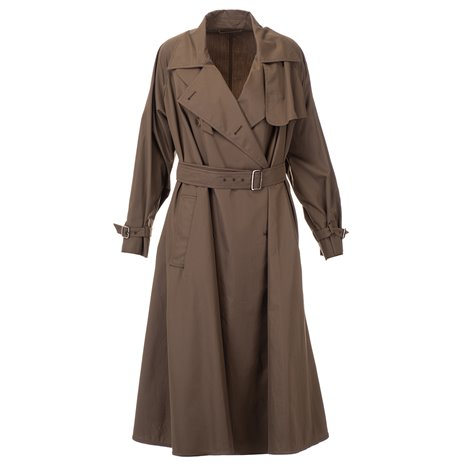 brown rain coat