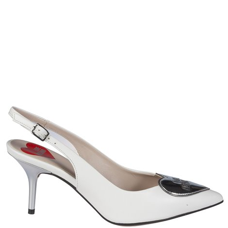 whiteleather slingbacks
