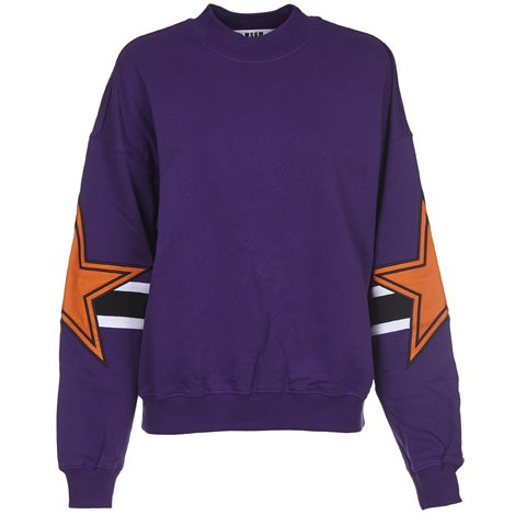 purple printed sweatshirt