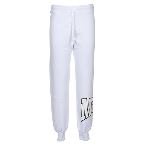 white printed trousers