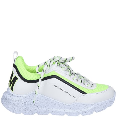 white logoed sneakers