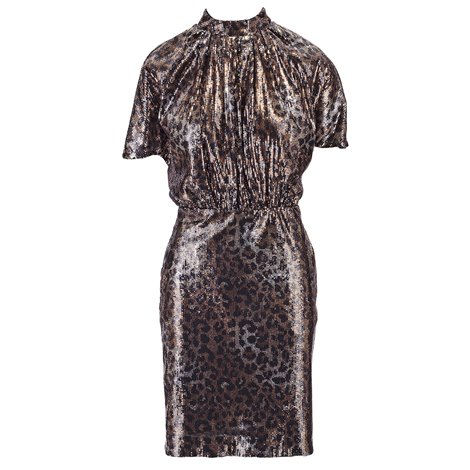 spotted sequins dress