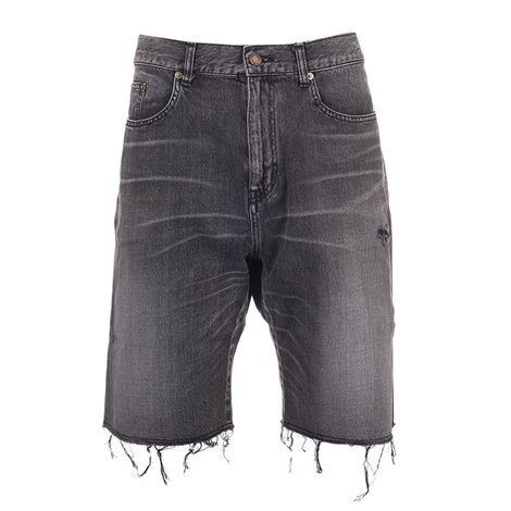 black fringed bermuda shorts