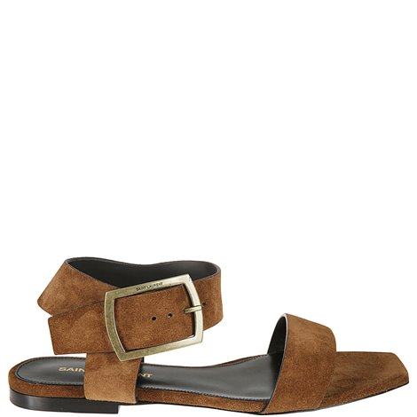 suede sandals with buckle