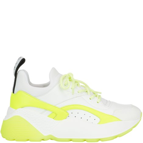 white and yellow eclypse sneakers