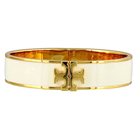white enameled bangle