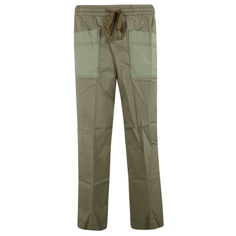 crop twill trousers