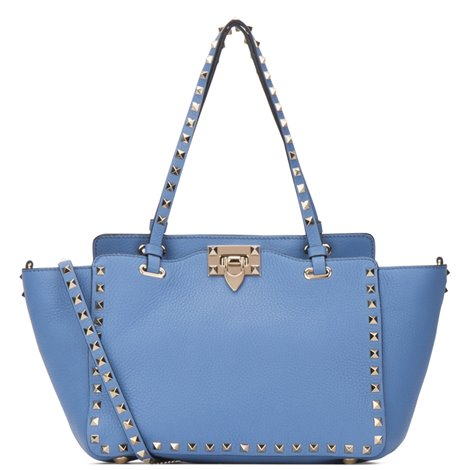 light blue small tote
