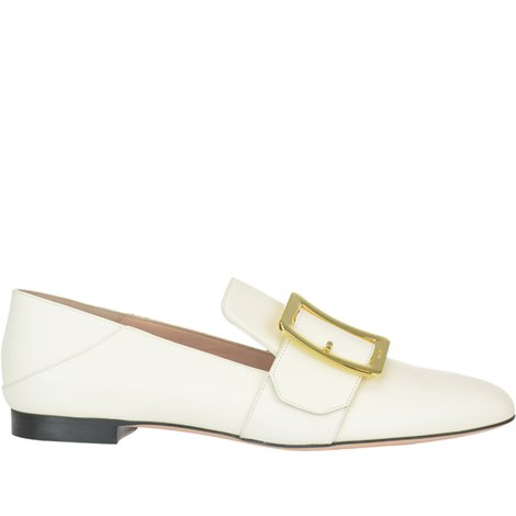 chloé loafer in semi-shiny & suede calfskin