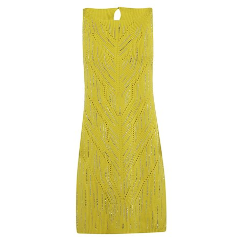 yellow cotton jersey dress