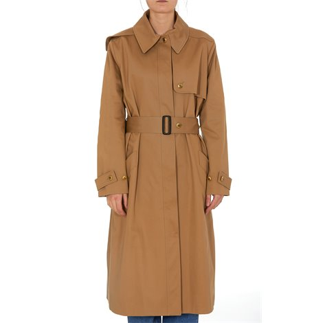 two-tone reconstructed trench coat