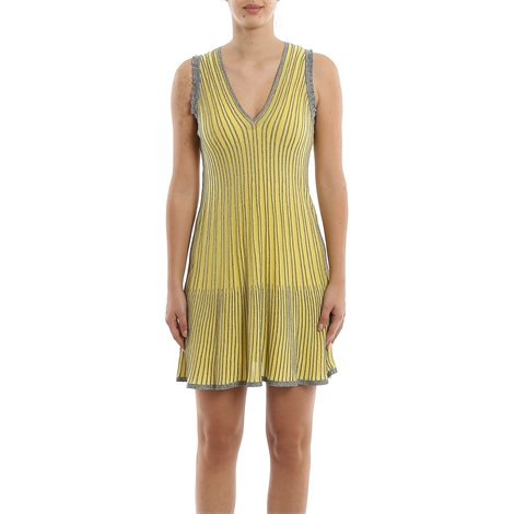 nude, green and black<br/>light jersey<br/>multicolor lamè wire detail<br/>stretch top<br/>flared cut<br/>adjustable straps<br/>loose fit<br/>