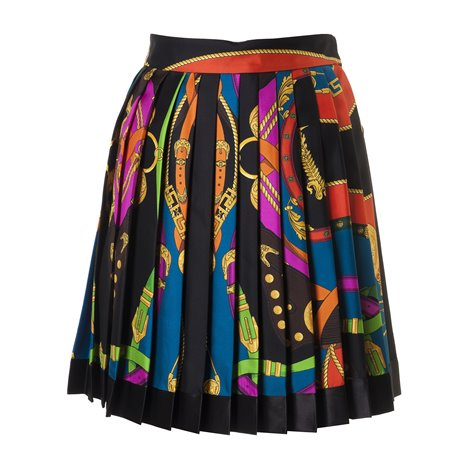 barocco rodeo print pleated skirt
