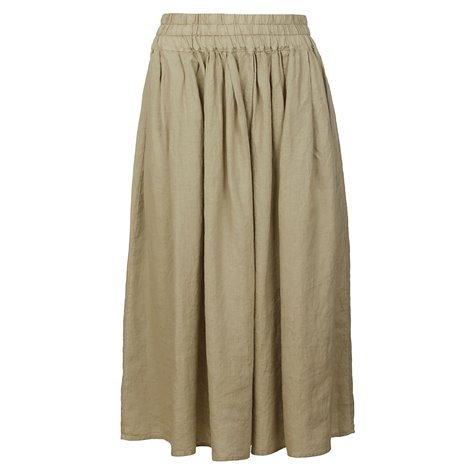 beige knee lenght and midi skirts