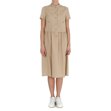 beige knee lenght dresses