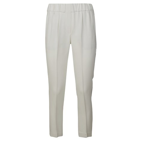white straight trousers