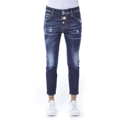 jeans cropped bianco
