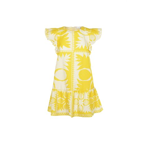 yellow printed  dresses