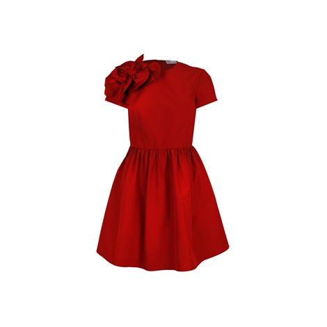 red knee lenght dresses