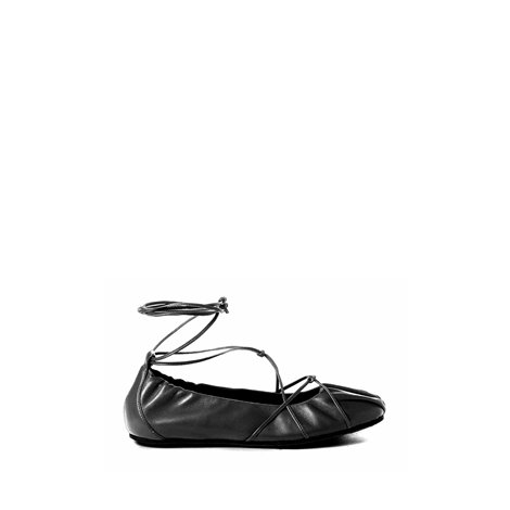 black ballets flat shoes