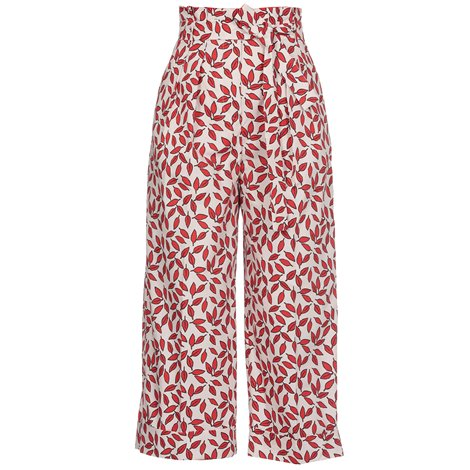 palazzo printed cotton trousers