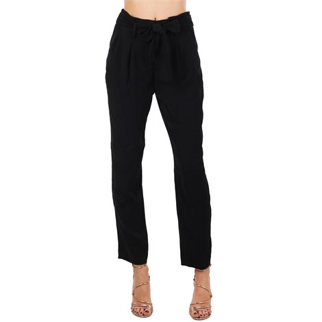 black high rise trousers