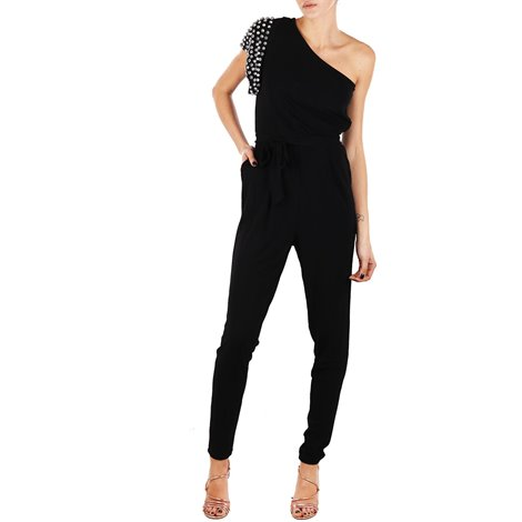 black sequned jumpsuit
